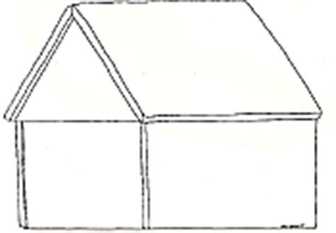 plain gingerbread house coloring page how to draw house frame