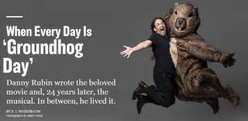 groundhog day script a special preview of groundhog day the musical adweek