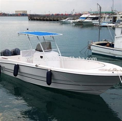 alibaba yacht 27ft frp fishing boat center console hot sale outboard