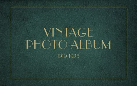 1920s powerpoint template vintage photo album keynote