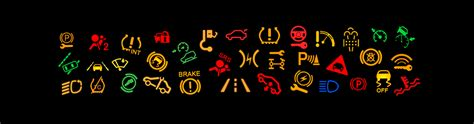 lights meaning dashboard warning lights what they partwise