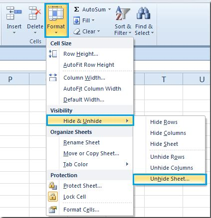 how to select sheets how to unhide all worksheets sheets in excel
