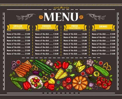 Exles Of Menu Cards In The Restaurants
