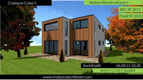 Maison Cube Bois Prix 3232 by Plan Et Photo De Maison Avec Etage Ossature Bois Par