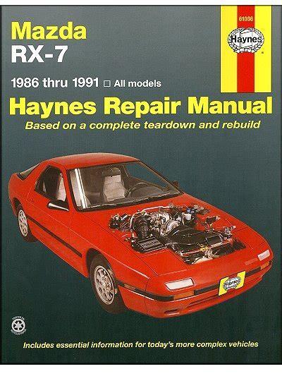motor auto repair manual 1995 mazda rx 7 electronic valve timing mazda rx 7 rotary repair manual 1986 1991 haynes 61036