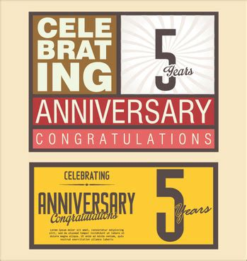 Wedding Anniversary Cards Design Vector by Wedding Anniversary Card Designs Free Vector