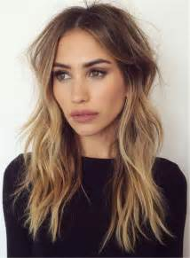 medium length hairstyles for hair parted in middle with bangs 25 best ideas about middle part hairstyles on pinterest