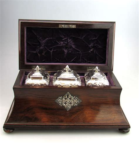 a tea caddy collection books set 3 antique george ii georgian silver tea caddies