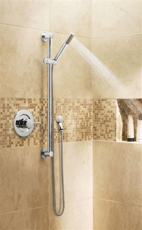 Shower On Slide Bar by Faucet 3887bn In Brushed Nickel By Moen