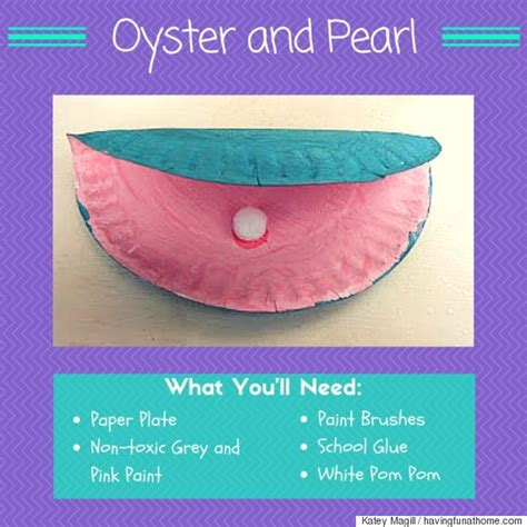 Oyster Paper Crafts - 6 summer crafts for you and your fishes huffpost