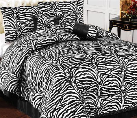 Faux Fur King Comforter Set by 15pc New Safarina Zebra Faux Fur Comforter Set W Curtain