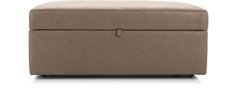 Leather Storage Ottoman With Casters Lounge Ii Leather Storage Ottoman With Casters Crate And
