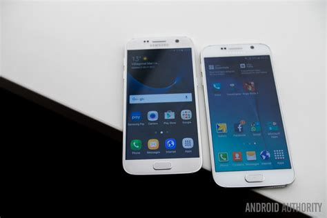 Samsung S6 Vs S7 samsung galaxy s7 vs galaxy s6 on android authority