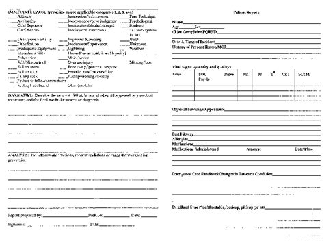 patient incident report form template 4 hospital incident report form template progress report