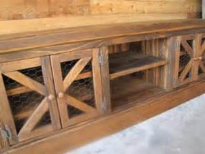 barn door style kitchen cabinets rustic quot chicken coop quot tv console with barn style doors fabulous furniture pinterest tvs