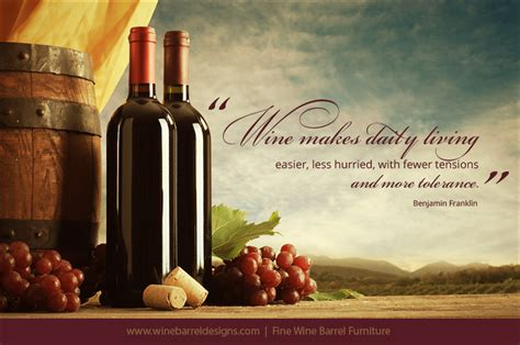 Wine quote for today from benjamin franklin