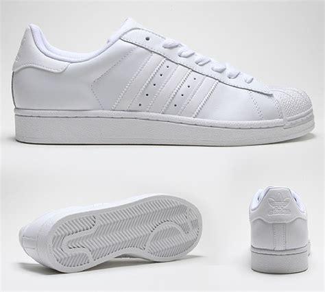 Adidas Superstar All White 100 Original adidas originals superstar ii trainer white white white footasylum