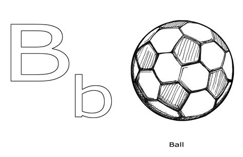 b is for ball coloring sheet alltoys for