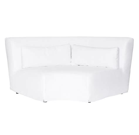 White Slipcovered Sectional Sofa Grecko Feather Modern Coastal White Slipcover Sectional Sofa 117x117 Kathy Kuo Home