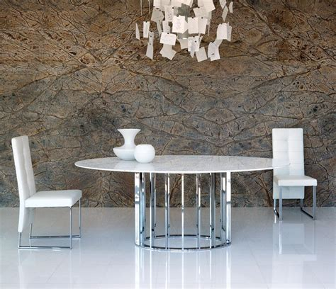 Embassy oval Marble Top & Metal Dining Table   Shop Online