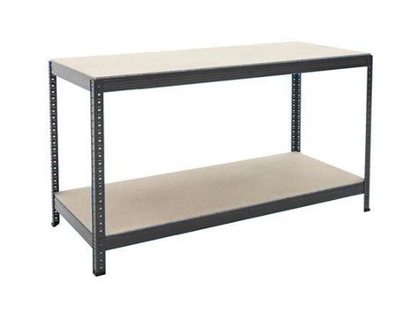 shed work bench industrial heavy duty steel workbench table shelving