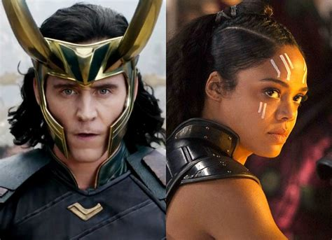 thor film heroine new thor ragnarok photo loki and valkyrie engage in
