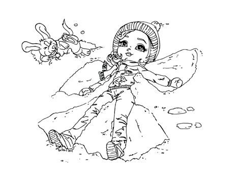 coloring pages of snow angels snow angel by jadedragonne on deviantart