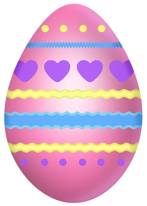 easter egg easter pink egg with hearts clipart picture 0
