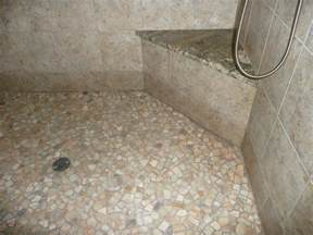 Shower Flooring by River Rock Shower Floor Color Coordination With The