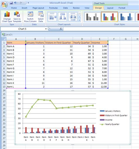 excel layout design apply a chart layout chart format style 171 chart