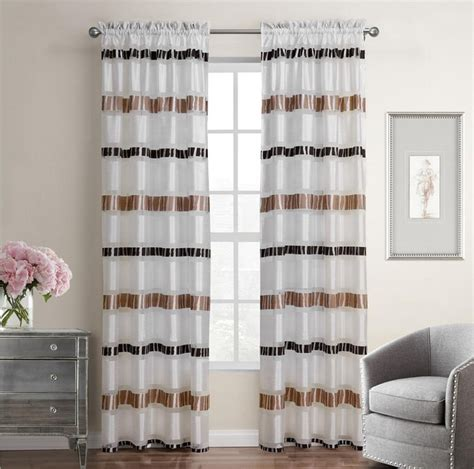 striped bedroom curtains 1 piece white striped luxury curtains for bedroom tulle