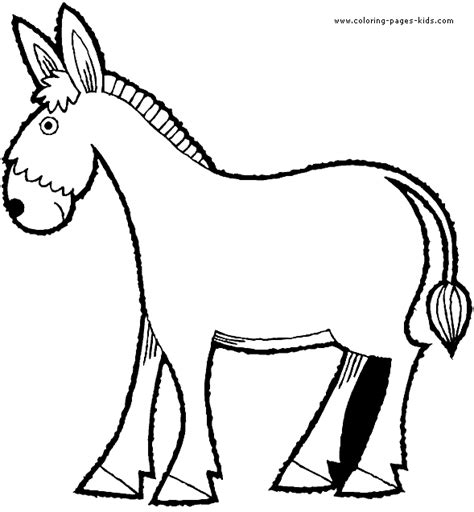 donkey coloring pages coloring pages