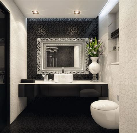 Small White Bathroom Decorating Ideas - black and white bathroom ideas and designs