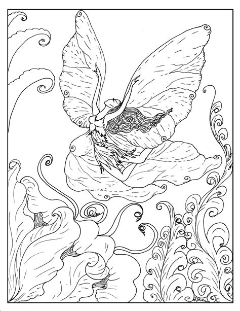 coloring pages advanced fantasy free coloring pages of fairy and unicorn