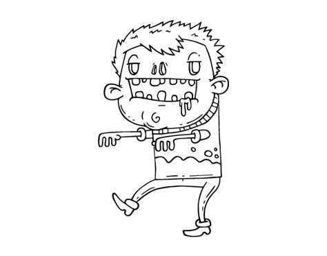 imagenes de zombies para halloween para niños dibujo de chico zombie para colorear dibujos net