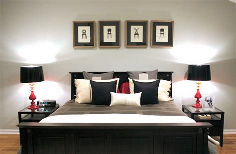 white bedroom with black accents bold black and white bedrooms with bright pops of color