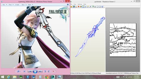 Papercraft Viewer - lightning gunblade pepakura by joshsonic8 on deviantart