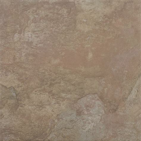 shop del conca 18 quot x 18 quot canyon slate glazed porcelain tile at lowes com