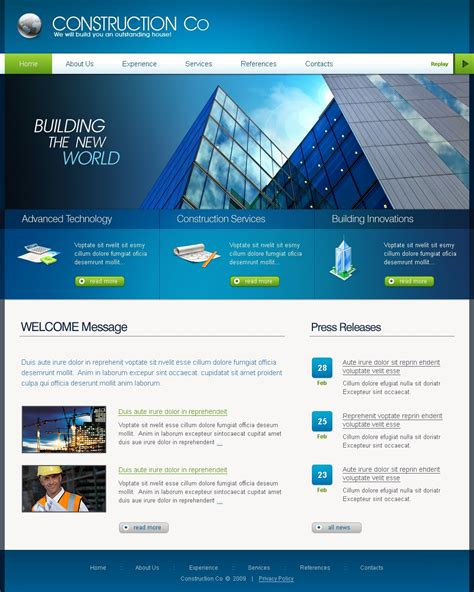 construction company website template 25195
