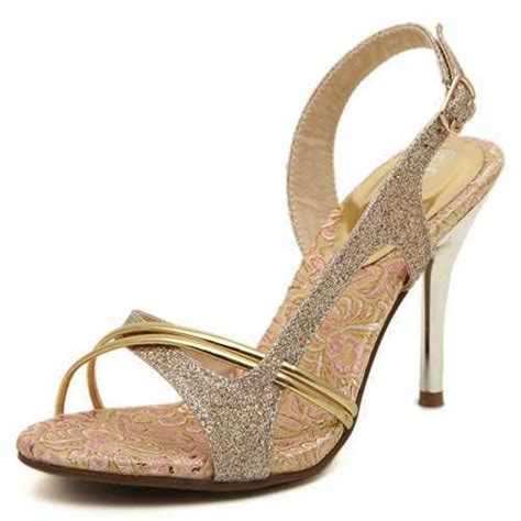 pretty in sandals pretty gold sandals open toe thin high heels less platform