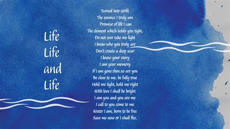 poems for save water poems for www pixshark images