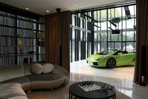 car in living room these 20 luxurious garages are perfect for a supercar