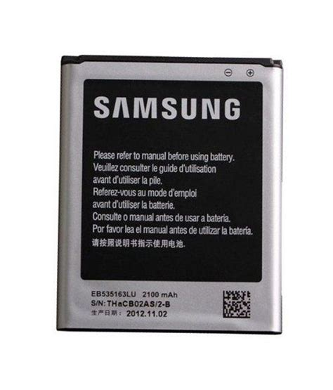 Baterai Battery Samsung Galaxy Grand I9082 Original samsung galaxy grand i9082 original battery 2100 mah eb