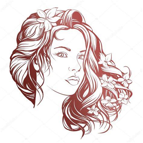 desenho mulher desenho ilustra 231 227 o mulher bonita cara m 227 o desenhada vector