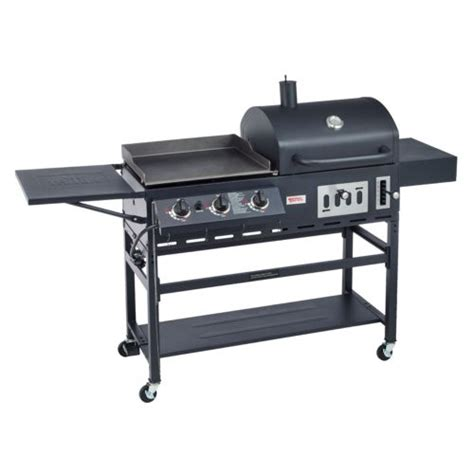 backyard griddle outdoor gourmet pro triton charcoal grill gas griddle academy