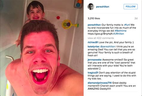 perez hilton under fire for sharing a shower with perez hilton branded a pervert after sharing son s