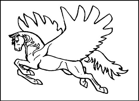 Coloring Page Unicorn With Wings by Free Pegasus Coloring Pages Coloring Home