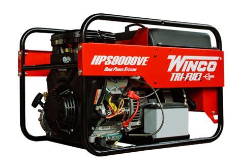 winco hps6000he tri fuel portable generator