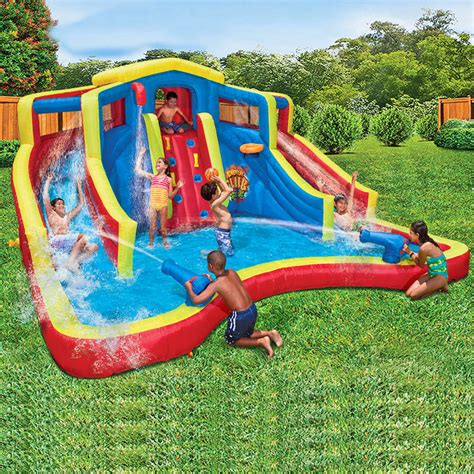 waterslide pool park backyard bounce house inflatable