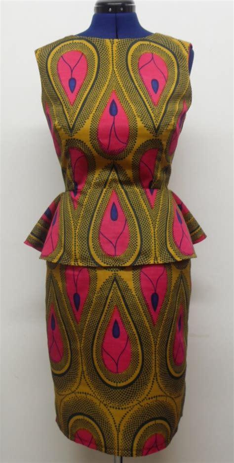 african print tear drop peplum dress sewing projects